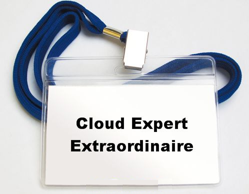 Cloud expert name tag