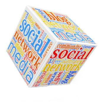 social media word cloud cube
