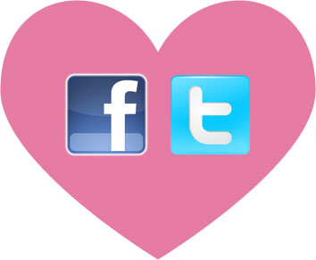 social media valentine's day heart
