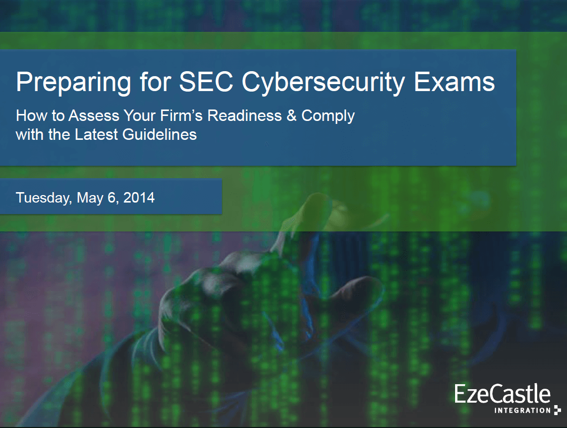 Webcast: Preparing for SEC Cybersecurity Exam