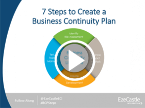 Webcast: 7 Steps to Create a Business Continuity Plan