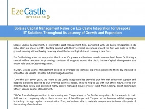 Case Study: Solaise Capital Management Relies on Eze Castle Integtration for Bespoke IT Solutions Through Journey of Growth and Expansion