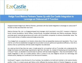 Case Study: Hedge Fund Metrica Partners Team Up with Eze Castle Integration to Leverage an Outsourced IT Function