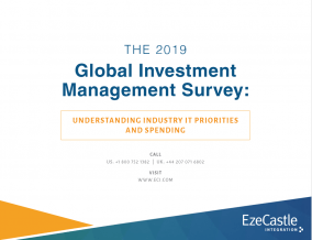 Report: The 2019 Global Investment Management Survey: Understanding Industry IT Priorities and Spending