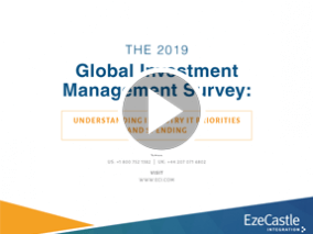 Webcast: 2019 Global Investment Management Survey Says: Understanding Industry IT Priorities and Spending
