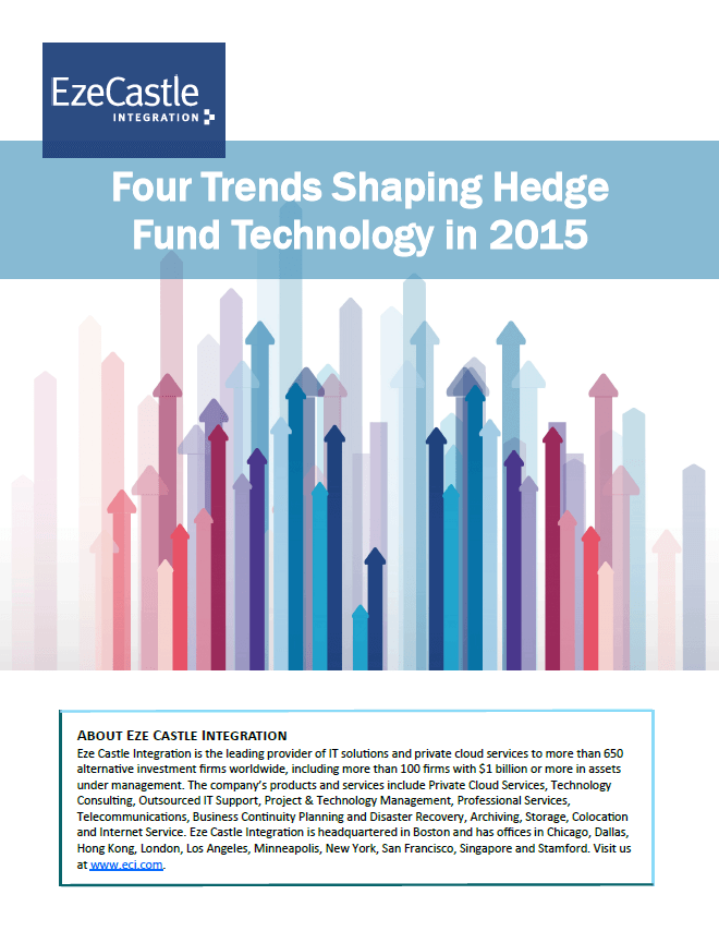 2015 Hedge Fund Technology Trends Whitepaper