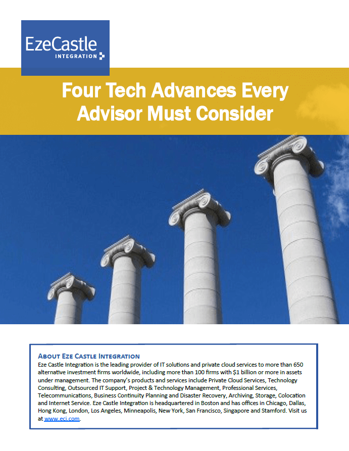 Four Tech Advances Every Advisor Must Consider