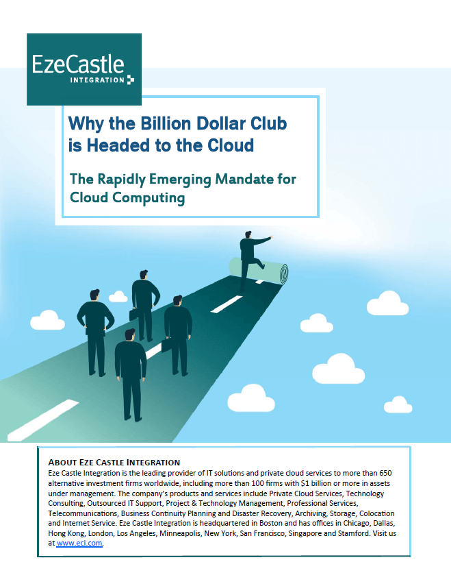 Why the Billion Dollar Club is going Cloud