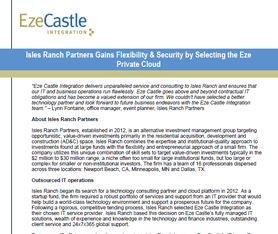 Case Study: Isles Ranch Partners Gains Flexibility & Security with Eze Private Cloud