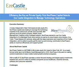 Case Study: NexPhase Capital Selects Eze Private Cloud to Maximize Efficiency