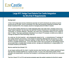 Case Study: NYC Firm Selects Eze Castle for Disaster Recovery and More