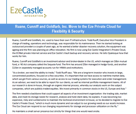 Case Study: Ruane, Cunniff & Goldfarb, Inc. Move to Eze Private Cloud