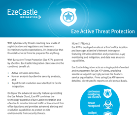 Data Sheet: Eze Active Threat Protection (ATP)