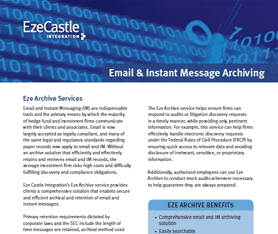 Data Sheet: Eze Archive