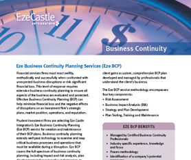 Data Sheet: Eze Business Continuity Planning
