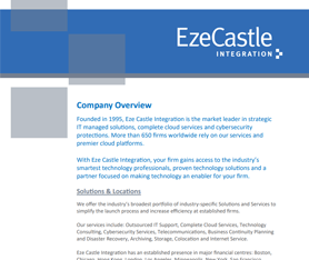 Data Sheet: Eze Castle Company Overview