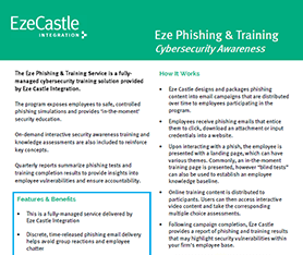 Data Sheet: Eze Managed Phishing & Training