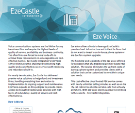 Data Sheet: Eze Voice
