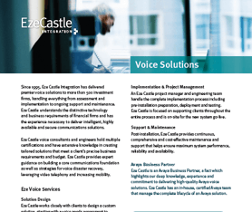Data Sheet: Eze Voice Solutions