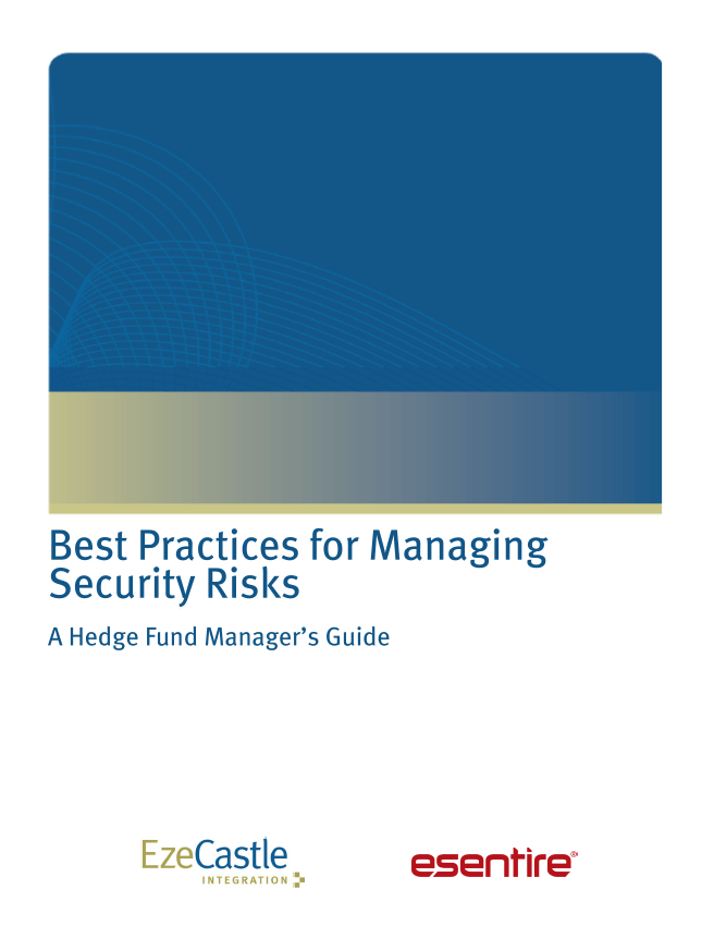 Security Best Practices for Hedge Funds