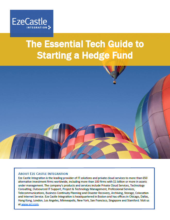 The Essential Tech Guide for Hedge Fund Startups