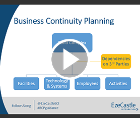 Webcast: SEC Guidance Update on Business Continuity