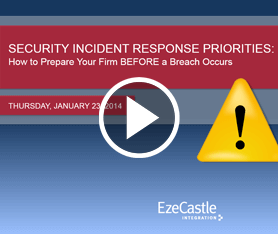 Webcast: Security Incident Response Priorities