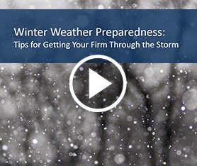 Webcast: Winter Weather Preparedness Tips for Business Continuity
