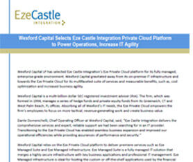Case Study: Wexford Capital Moves to Eze Private Cloud Platform to Power Operations, Increase IT Agility
